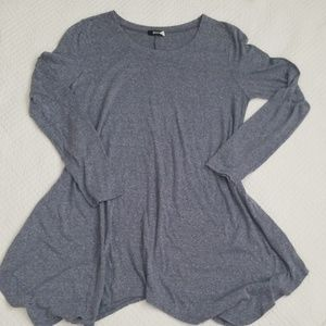 UO BDG TOP space dye blue long sleeve tunic size L